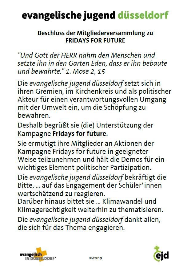 ejd-Beschluss Fridays for Future-Bewegung
